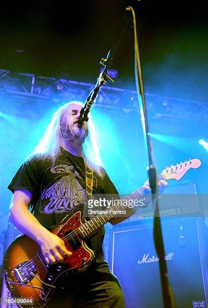 Mascis of Dinosaur Jr performs a sold out show at HMV Ritz on February 1 2013 in Manchester England