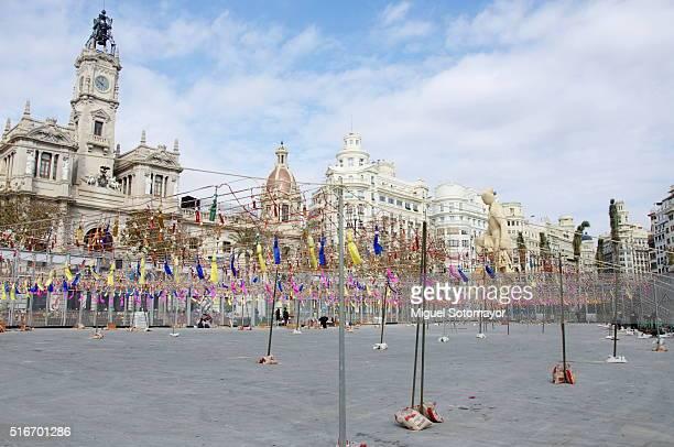 Mascleta of fallas in Valencia