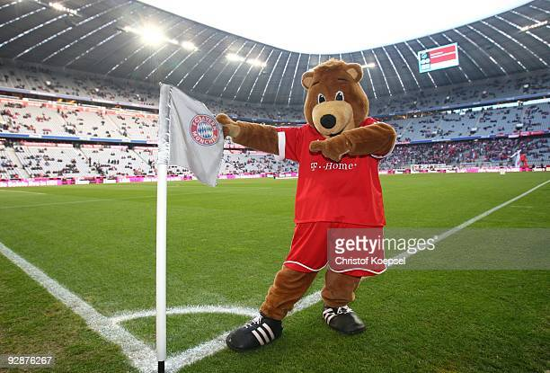 Mascot Berni of Bayern Muenchen poses prior to the Bundesliga match between FC Bayern Muenchen and FC Schalke 04 at Allianz Arena on November 7 2009...