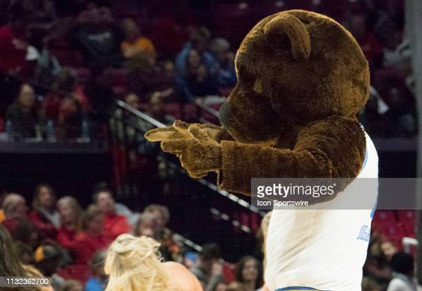 UCLA mascot during a NCAA Div 1 Women's championship first round game between the Tennessee Lady Vols and UCLA Bruins on March 23 at Xfinity Center...