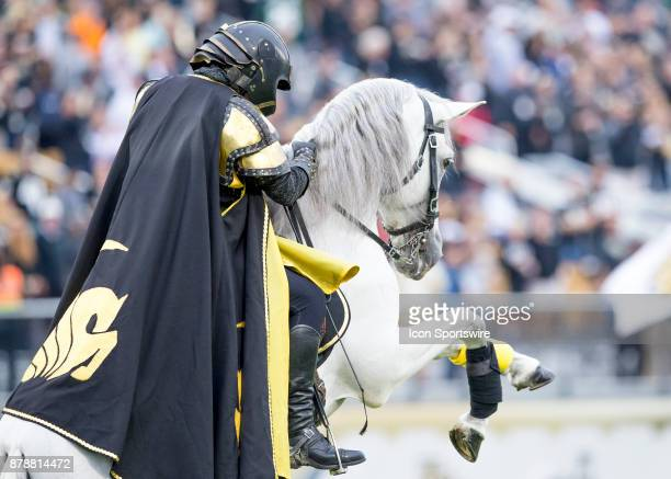 Mascot during the football game between the UCF Knights and USF Bulls on November 24 2017 at Bright House Networks Stadium in Orlando FL