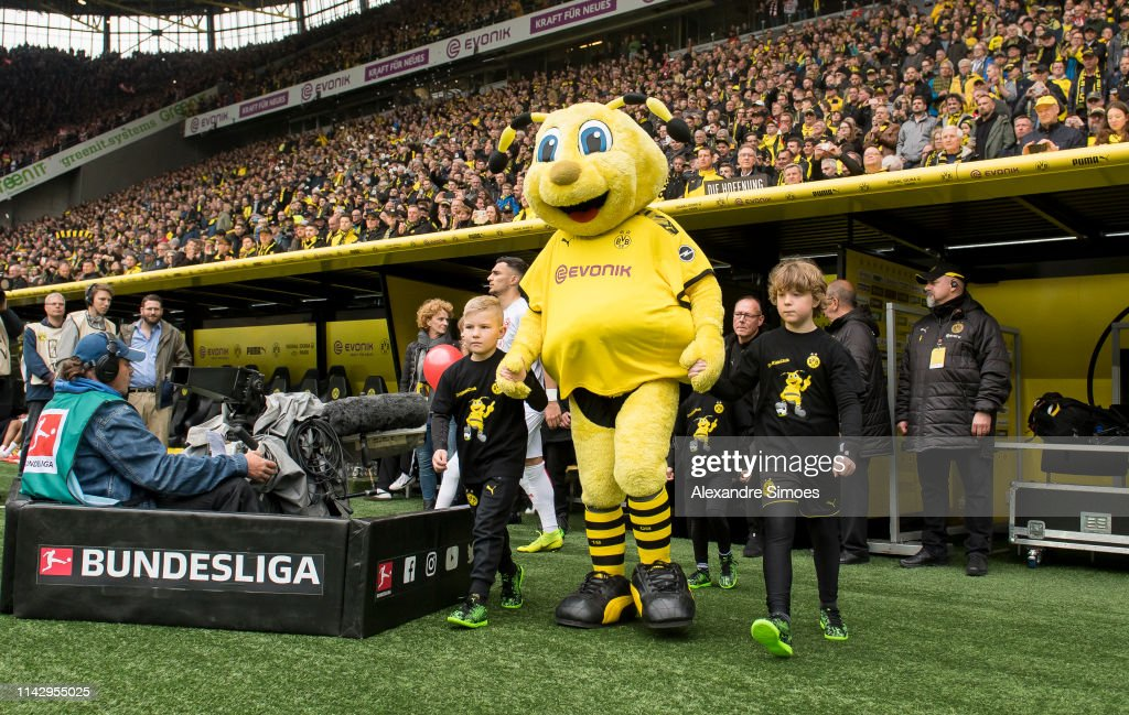 Mascot Emma Of Borussia Dortmund On Its Way To The Pitch Prior To The News Photo Getty Images