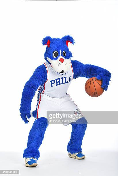Mascot Franklin of the Philadelphia 76ers poses for a photo during media day on September 28 2015 in Galloway New Jersey NOTE TO USER User expressly...