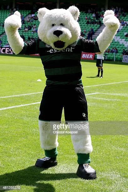 Mascot Groby of Groningen poses prior to the friendly match between FC Groningen and FC Southampton at Euroborg Arena on July 18 2015 in Groningen...