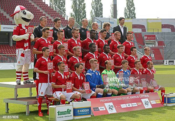 mascot Lauzi team manager Andre Rohbock physiotherapist Philip Gerzymisch physiotherapist Oliver Krautz goalkeeper coach Heiko Kretschmar assistant...