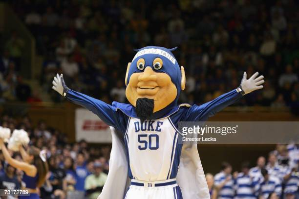 Mascot of the Duke Blue Devils cheers during the game against the Clemson Tigers at Cameron Indoor Stadium January 25 2007 in Durham North Carolina...