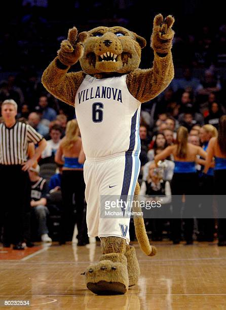 Mascot of the Villanova Wildcats during day two of the 2008 Big East Men's Basketball Championship at Madison Square Garden on March 13 2008 in New...