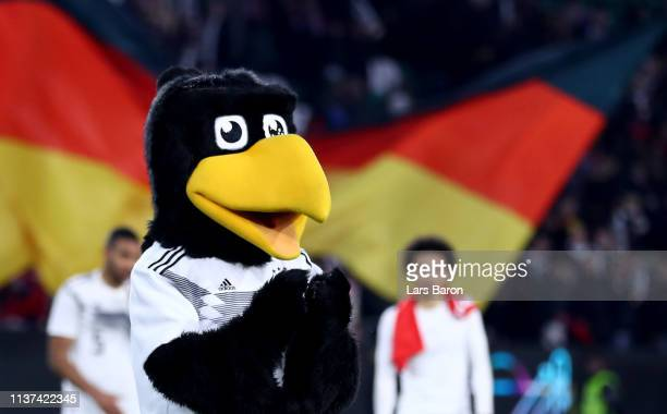 DFB mascot Paule is seen during the International Friendly match between Germany and Serbia at Volkswagen Arena on March 20 2019 in Wolfsburg Germany