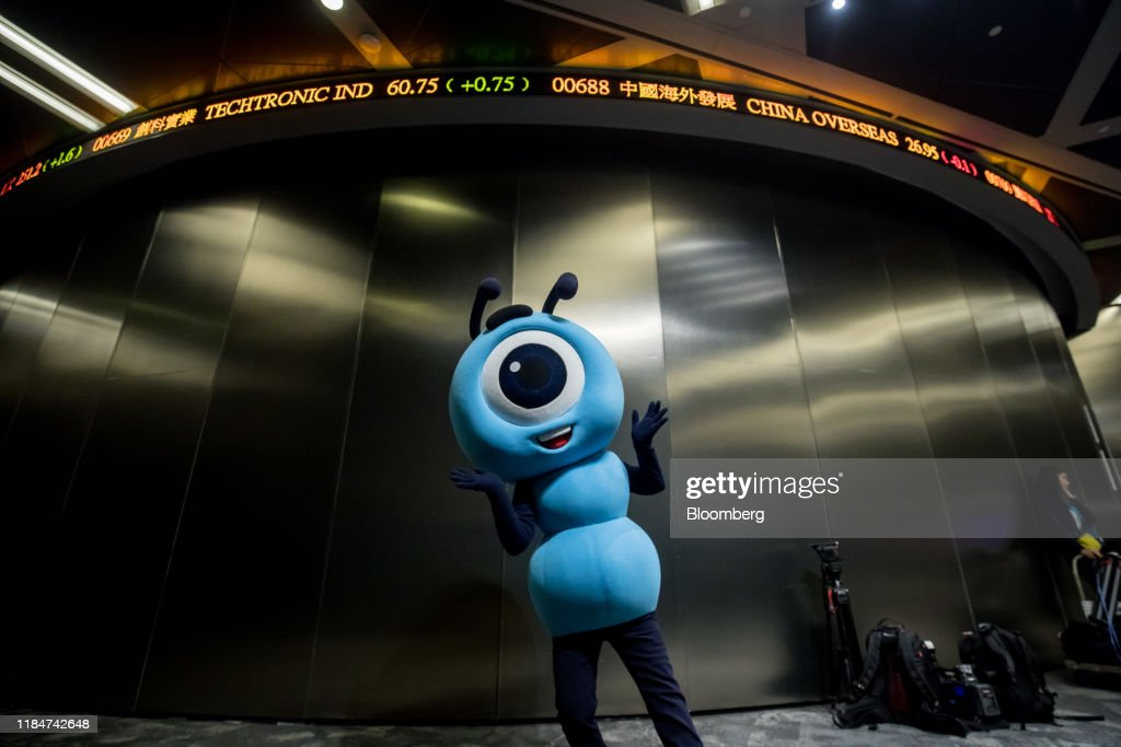 Alibaba Raises $11 Billion in Hong Kong Market Rocked by Unrest : News Photo