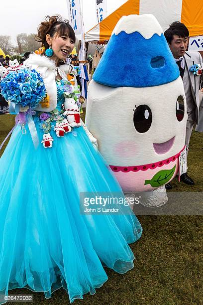 Mascot Wedding Bride Japanese celebrate the silly eccentric and adorable like no other country Its obsession with the yurukyara mascots is a perfect...