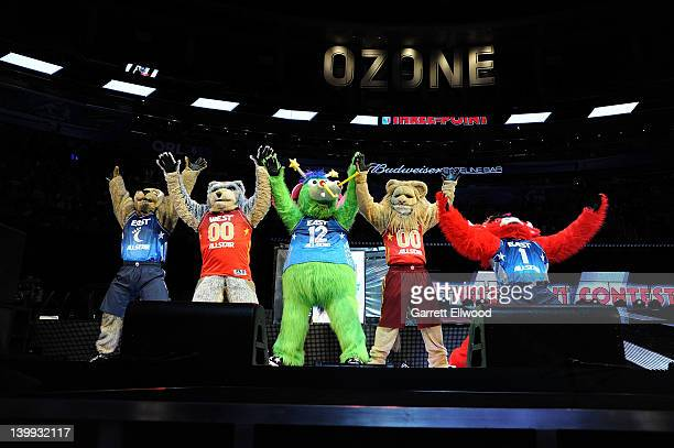 Mascots Moondog of the Cleveland Cavaliers Crunch of the Minnesota Timberwolves Stuff of the Orlando Magic Slampson of the Sacramento Kings and Benny...