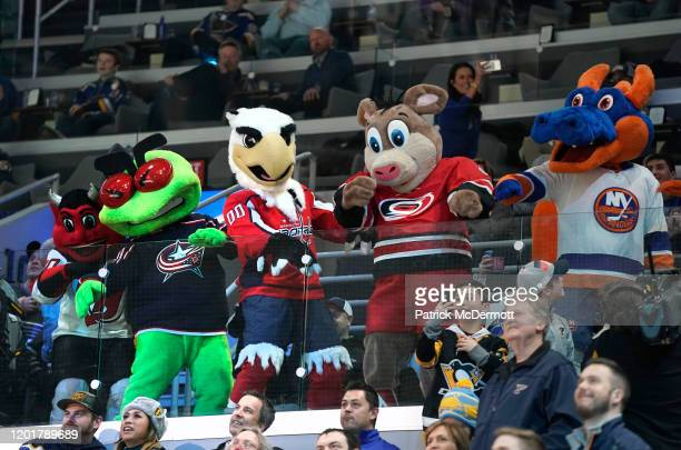Mascots NJ Devil of the New Jersey Devils Stinger of the Columbus Blue Jackets Slapshot of the Washington Capitals Stormy of the Carolina Hurricanes...