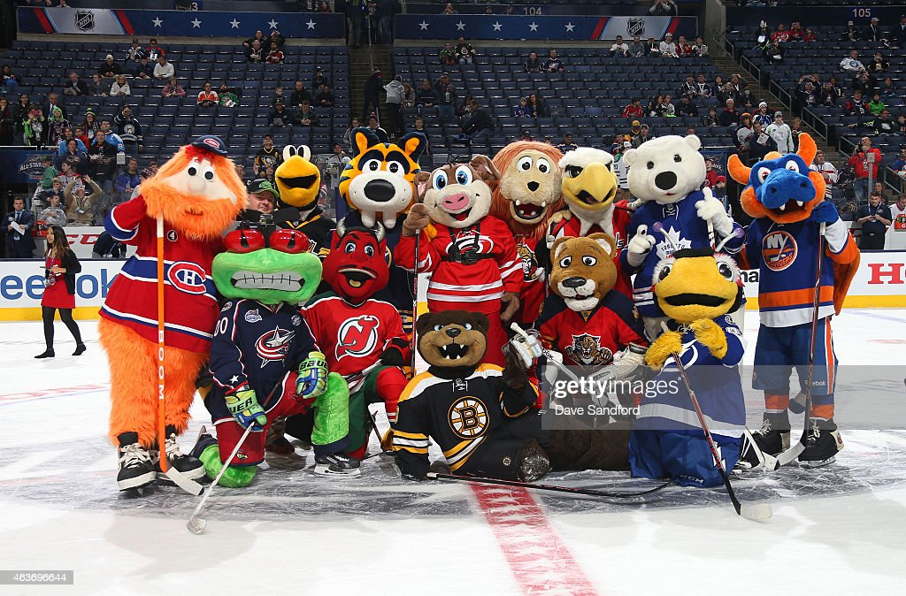 Mascots Youppi Of The Montreal Canadiens Iceburgh Of The