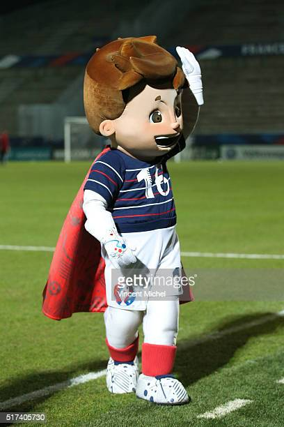 Mascotte Euro 2016 during the Uefa U21 European Championship qualifier between France and Scotland at Stade Jean Bouin on March 24 2016 in Angers...