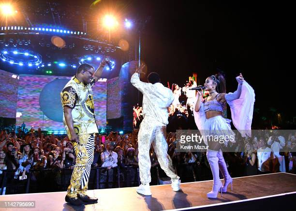 Mase Diddy and Ariana Grande perform on Coachella Stage during the 2019 Coachella Valley Music And Arts Festival on April 14 2019 in Indio California