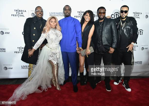 Mase Lil Kim Sean Combs Cassie Ventura Carl Thomas and French Montana attend the Can't Stop Won't Stop The Bad Boy Story Premiere on April 27 2017 in...
