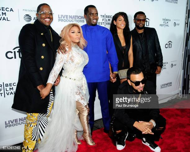 """Mase, Lil Kim, Sean Combs, French Montana and Cassie Ventura attend """"Can't Stop, Won't Stop: The Bad Boy Story"""" Premiere - 2017 Tribeca Film Festival..."""
