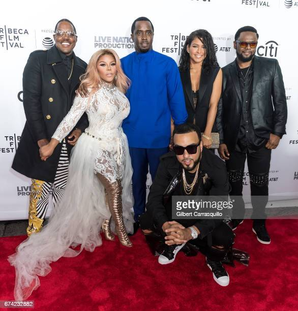 Mase Lil Kim Sean Combs French Montana Cassie Ventura and Carl Thomas attend the 'Can't Stop Won't Stop The Bad Boy Story' Premiere at Beacon Theatre...