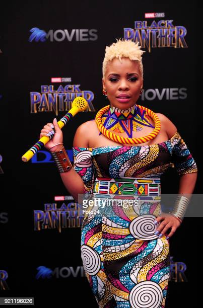 Masechaba Ndlovu during the Black Panther movie premiere at Montecasino on February 16 2018 in Fourways South Africa Your culture in South Africa...
