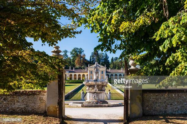 maser (tv) - villa barbaro (a.palladio) - ville venete - veneto stock pictures, royalty-free photos & images