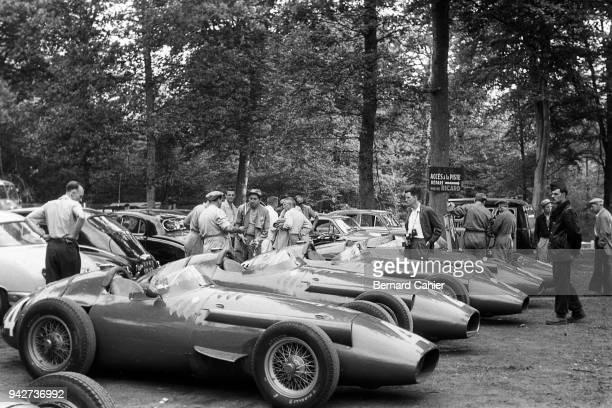 Maserati 250F Grand Prix of France RouenLesEssarts 07 July 1957 The Maserati armada prior to the 1957 French Grand Prix in Rouen