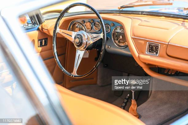 Maserati 3500 GT Coupe Speciale interior and dashboard on display at the 2019 Concours d'Elegance at palace Soestdijk on August 25 2019 in Baarn...