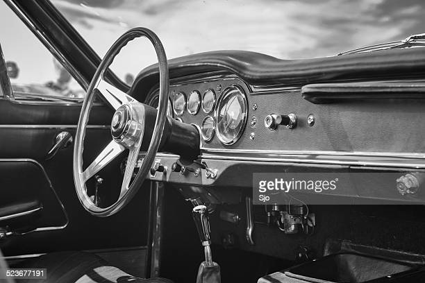 maserati 3500 gtis spyder classic sports car interior - maserati stock photos and pictures