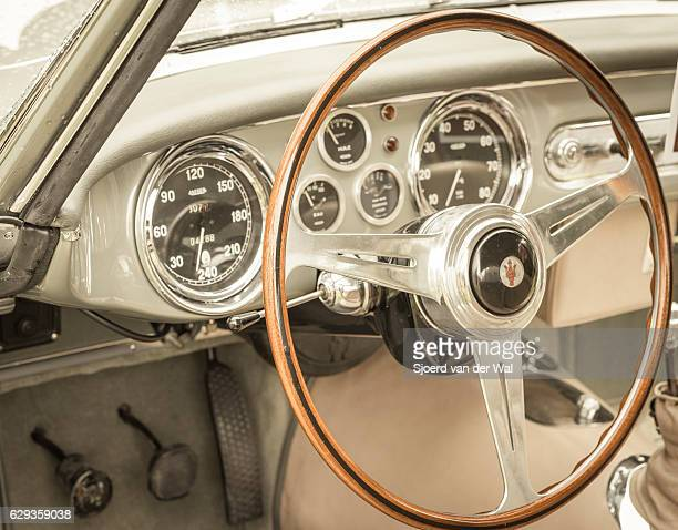 maserati a6g 2000 coupe by allemano interior - maserati stock pictures, royalty-free photos & images