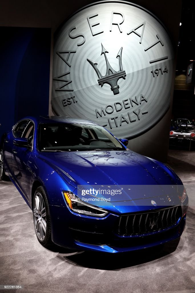 Maserati Ghibli is on display at the 110th Annual Chicago Auto Show at McCormick Place in Chicago, Illinois on February 9, 2018.