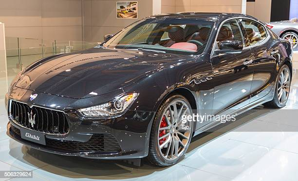 maserati ghibli italian luxury saloon car - maserati stock pictures, royalty-free photos & images