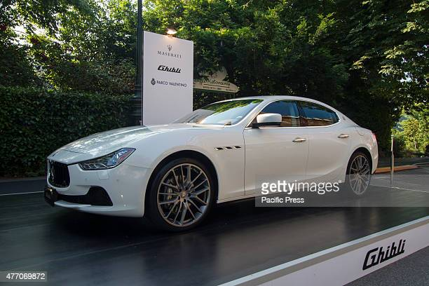 Maserati Ghibli Parco Valentino car show hosted 93 cars by many automobile manufacturers and car designers inside Valentino Park