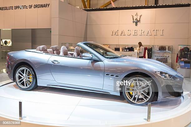 maserati granturismo convertible or grancabrio - maserati stock pictures, royalty-free photos & images