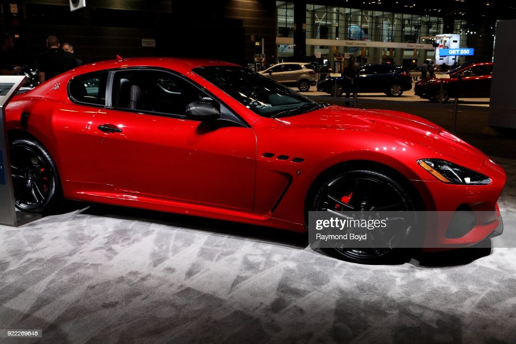 Maserati GranTurismo is on display at the 110th Annual Chicago Auto Show at McCormick Place in Chicago, Illinois on February 9, 2018.