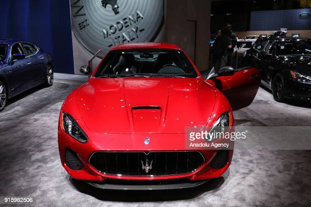 Maserati GranTurismo is on display during the Chicago Auto Show at McCormick Place in Chicago Illinois United States on February 8 2018
