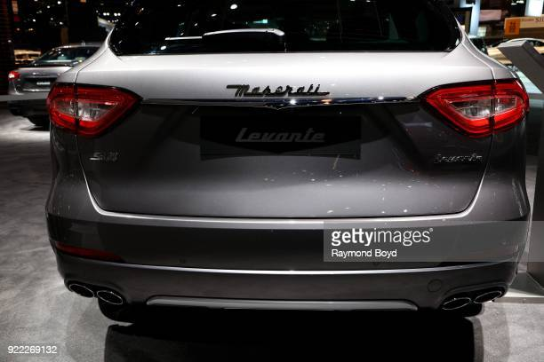 Maserati Levante is on display at the 110th Annual Chicago Auto Show at McCormick Place in Chicago Illinois on February 9 2018