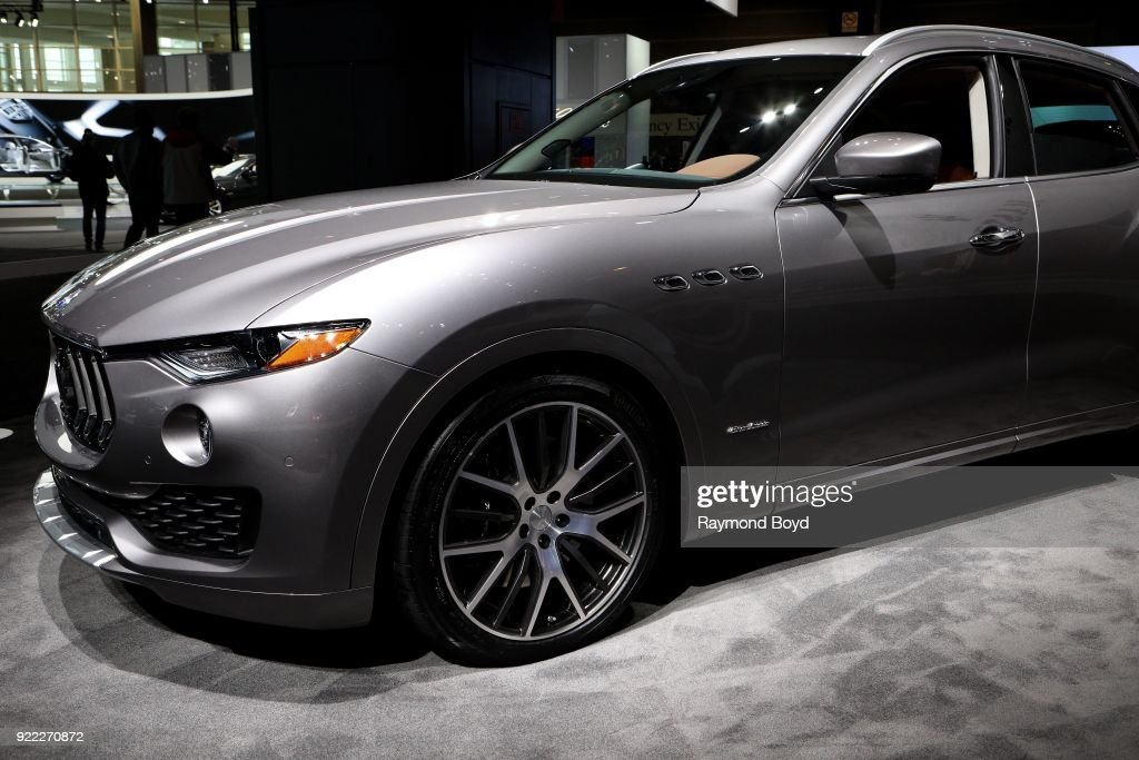Maserati Levante is on display at the 110th Annual Chicago Auto Show at McCormick Place in Chicago, Illinois on February 9, 2018.