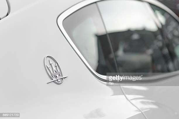 maserati levante italian luxury suv detail - maserati stock photos and pictures