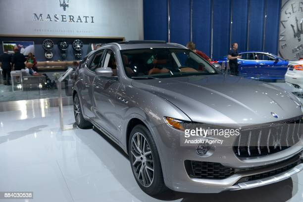 Maserati Levante sits on display at the Los Angeles Auto Show in the Los Angeles Convention Center in Los Angeles California on December 1 2017
