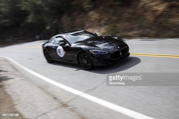 Maserati MC Stradale is driven during the Friends of Steve McQueen Car Show Rally from Malibu to Santa Barbara California US on Saturday May 14 2016...