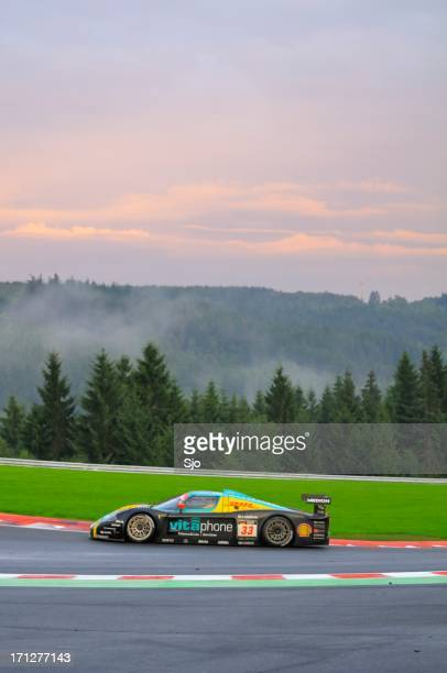 maserati mc12 corsa race car at the race track - circuit de spa francorchamps stock pictures, royalty-free photos & images