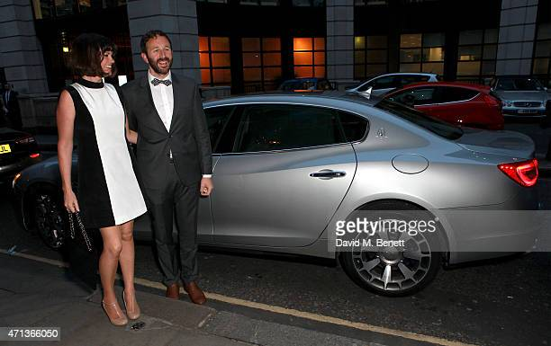 Maserati Official Sponsor of the WIE Awards drives Dawn O'Porter and Chris O'Dowd to the event at The Goldsmith's Hall in Italian style on April 27...