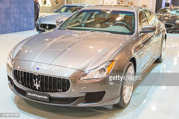 maserati quattroporte luxury saloon car - maserati stock photos and pictures