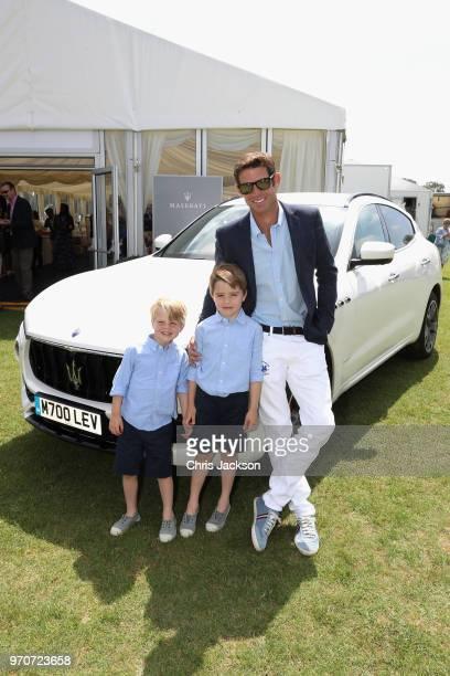 Maserati Royal Charity Polo Trophy 2018 – Malcom Borwick Jaime Borwick and Lucas Borwick with the Maserati Levante SUV attend the Maserati Royal...