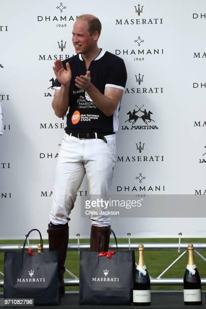 Maserati Royal Charity Polo Trophy 2018 – Prince William Duke of Cambridge following the Maserati Royal Charity Polo Trophy 2018 at Beaufort Polo...