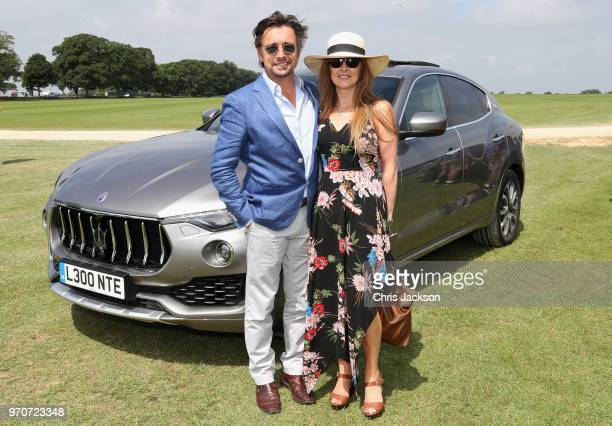 Maserati Royal Charity Polo Trophy 2018 – Richard Hammond and Mindy Hammond with the Maserati Levante SUV attend the Maserati Royal Charity Polo...