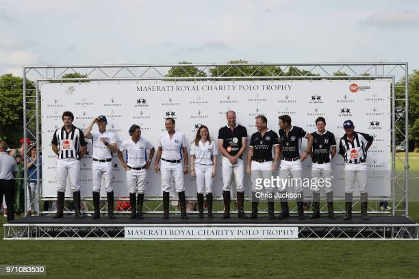 Maserati Royal Charity Polo Trophy 2018 – Team photo including Prince William Duke of Cambridge and Malcolm Borwick following the Maserati Royal...