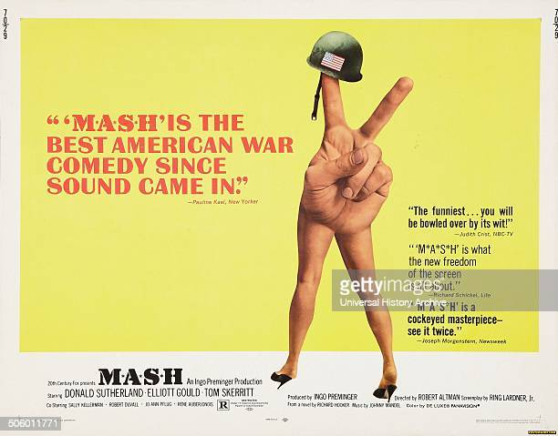 Mash a 1970 American satirical black comedy referring to a mobile army surgical hospital