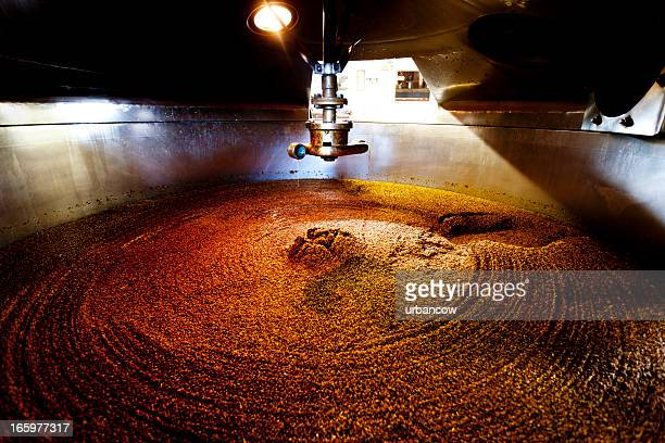 mash tun and dissolving vat - storage tank stock photos and pictures