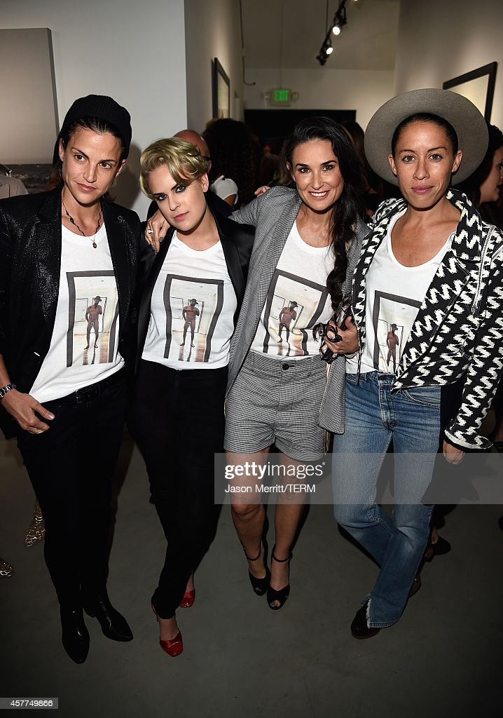 Masha Mandzuka, actress Tallulah Willis, actress Demi Moore and Anda Gentile attend the Brian Bowen Smith WILDLIFE show hosted by Casamigos Tequila at De Re Gallery on October 23, 2014 in West Hollywood, California.