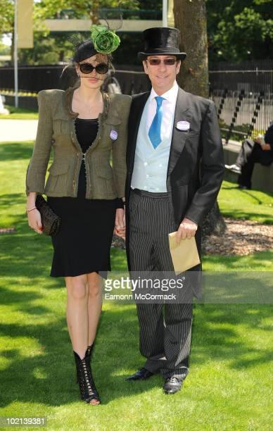 Masha Markova and Robert Hanson attends Royal Ascot at Ascot Racecourse on June 16, 2010 in Ascot, England.